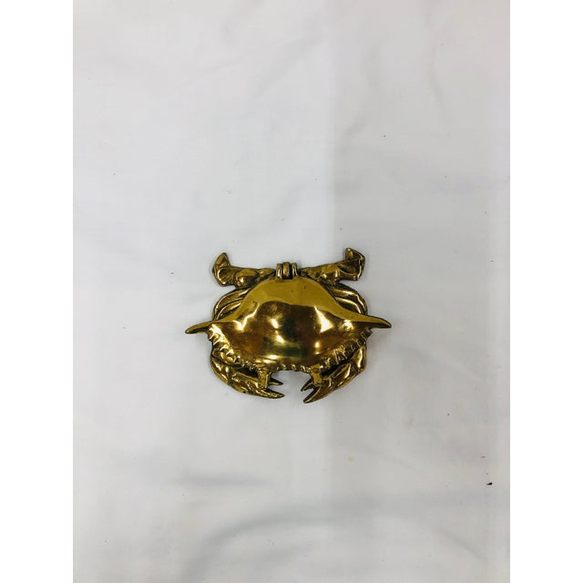 Late 20th Century Brass Crab Trinket Box For Sale - Image 4 of 4