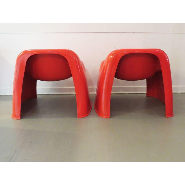 Vintage Artemide Red Toga Chairs - A Pair - Image 6 of 9
