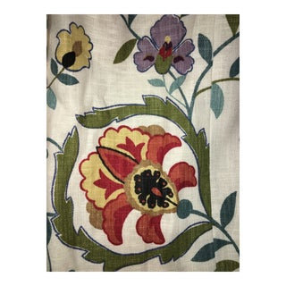 """Custom Drapery Panels of Suzanne Kasler for Lee Jofa """"Montmartre"""" Suzani Fabric - Set of 4 For Sale"""