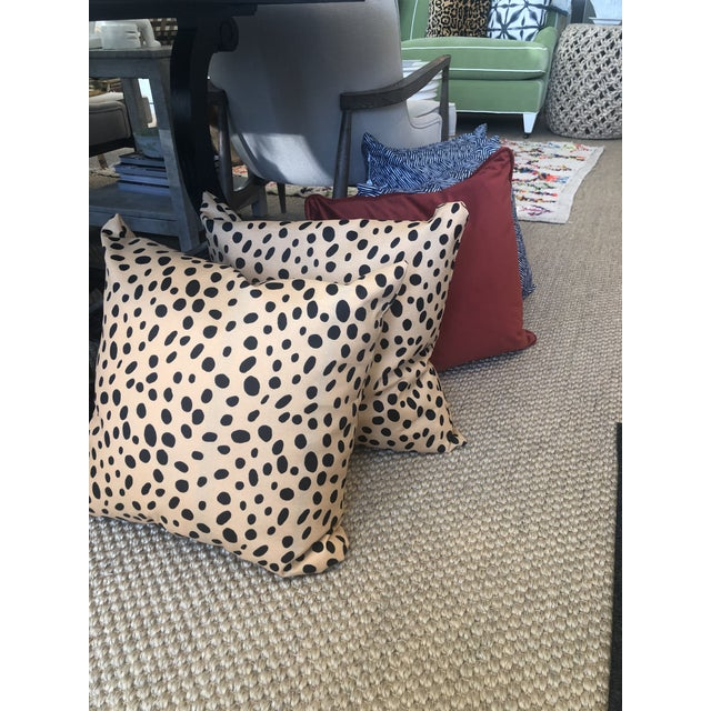 2010s Contemporary Tan and Black Animal Printed Pillow For Sale - Image 5 of 6
