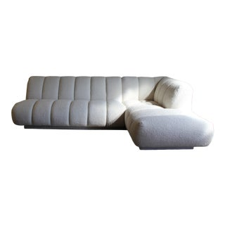 1980s Vintage Steve Chase for Martin Brattrud Channel Back Sectional Sofa For Sale