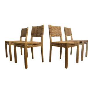 1950s Mid-Century Modenr Aino Aalto for Artek Rattan Cane Dining Chairs - Set of 4