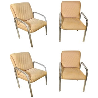 Baughman Mid Century Modern Lucite Overstuffed Armchairs U Shaped - Set of 4