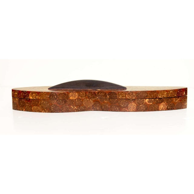 R & Y Augousti R&Y Augousti Sliced Penshell/Coconut Shell Lidded Box For Sale - Image 4 of 11