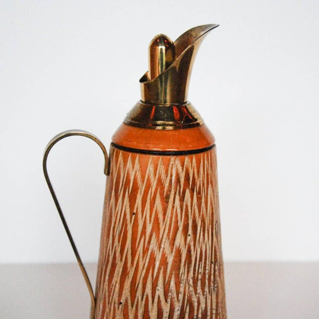 Aldo Tura Wood & Brass Decanters - A Pair For Sale - Image 10 of 11