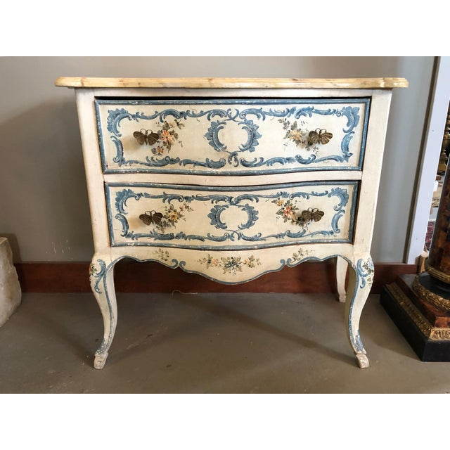 1950s Shabby Chic Italian Cream Hand Painted Chest of Drawers For Sale - Image 12 of 12