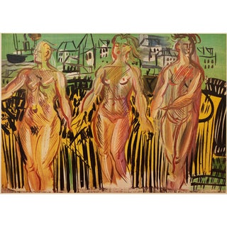 """1954 Raoul Dufy, """"The Siene, the Oise, and the Marne"""" First Edition Lithograph For Sale"""