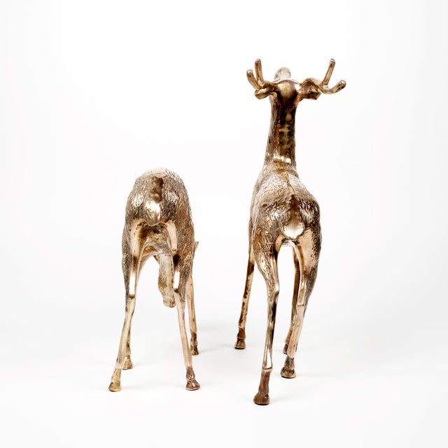 Vintage Brass Deer Figures - A Pair - Image 6 of 10