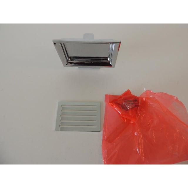 Restoration Hardware Restoration Hardware Small Shower Basket Satin Nickel For Sale - Image 4 of 7