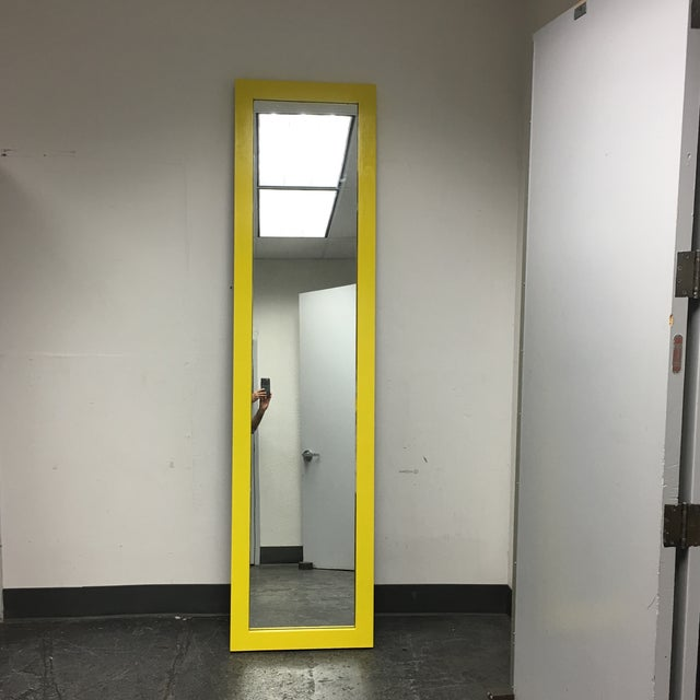 Yellow Floor Mirror - Image 3 of 7