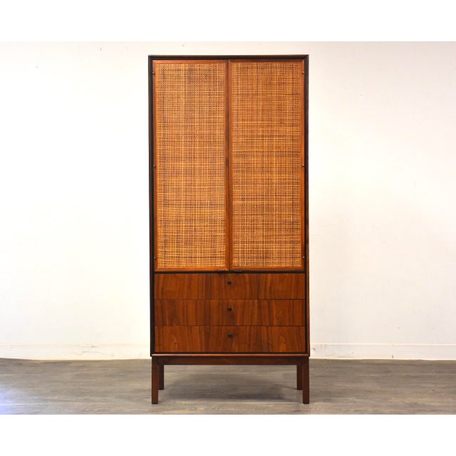 Jack Cartwright for Founders Walnut Armoire Dresser For Sale - Image 11 of 11