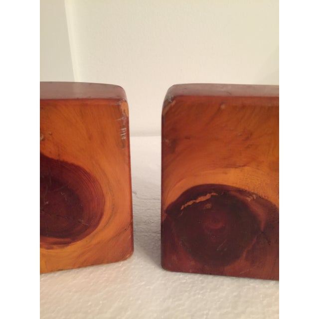 Live Edge Organic Wood Bookends - a Pair For Sale - Image 9 of 13
