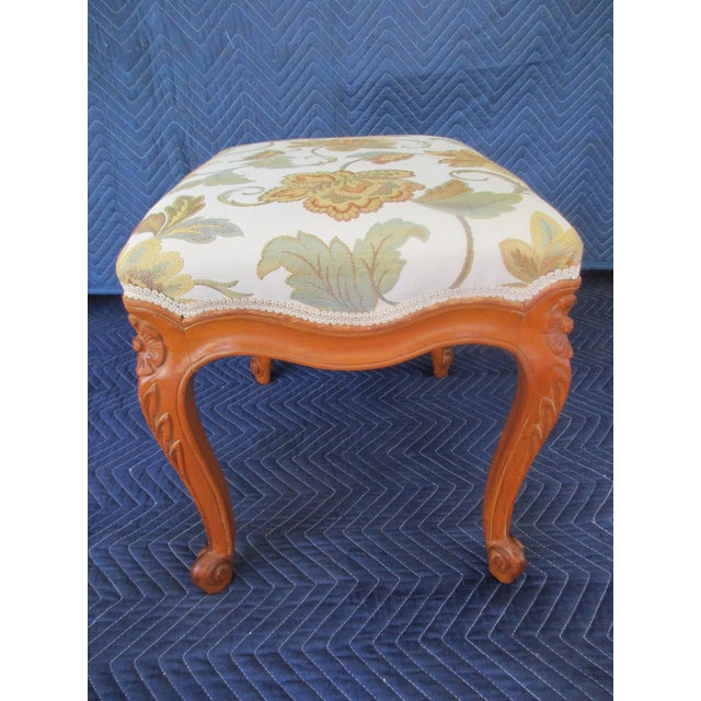 French Provincial Footstool For Sale - Image 4 of 12