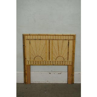 Rattan & Bamboo Sunburst Pair of Twin Headboards Preview