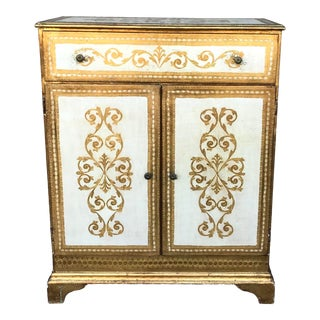 1950s Vintage Italian Florentine Wardrobe Dresser For Sale
