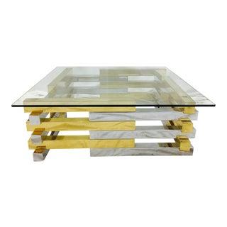 Chrome & Brass Bar Coffee Table