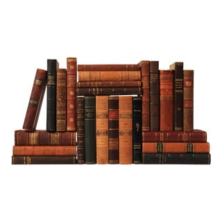 Scandinavian Leather-Bound Books S/25
