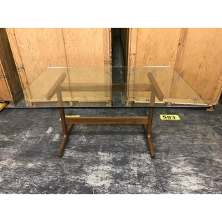 Danish Modern Teak Trestle Table BASE, in the style of Finn Juhl Preview
