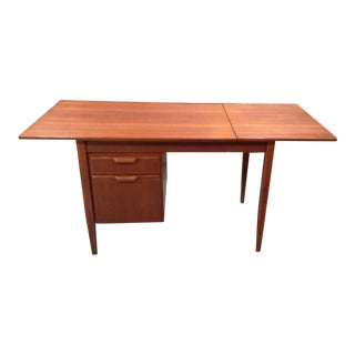 Mid-Century Modern Walnut Tanker Desk For Sale