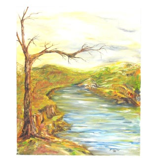 River Landscape by B. Coonfield For Sale