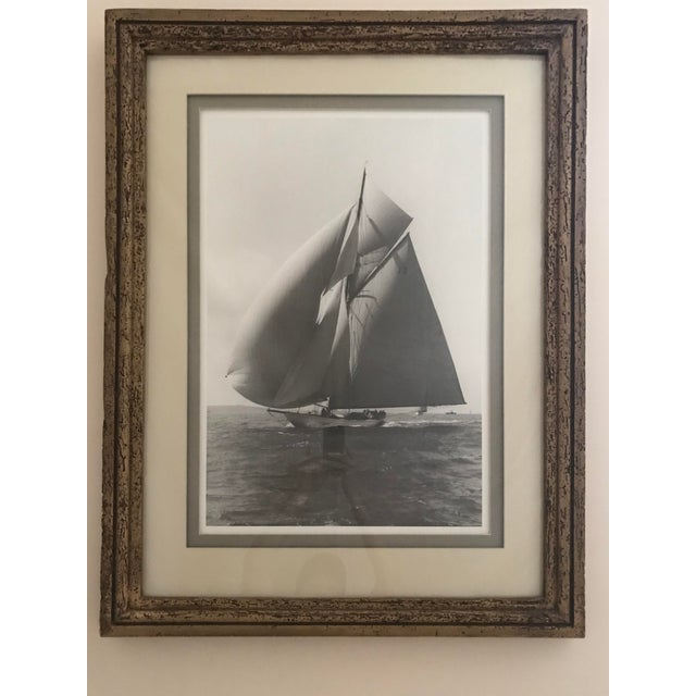 """Photography Framed and Double Shadow Mount Matted """"Candida"""" Black & White Prints From 1923 & The """"Velsheda"""" From 1943 - a Pair For Sale - Image 7 of 13"""