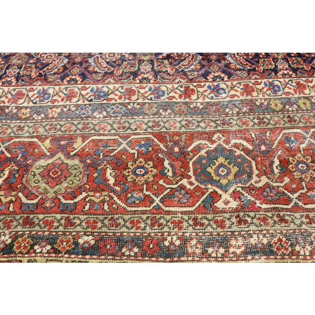 Early 20th Century Antique Mahal Rug - 12′3″ × 16′4″ For Sale - Image 4 of 7