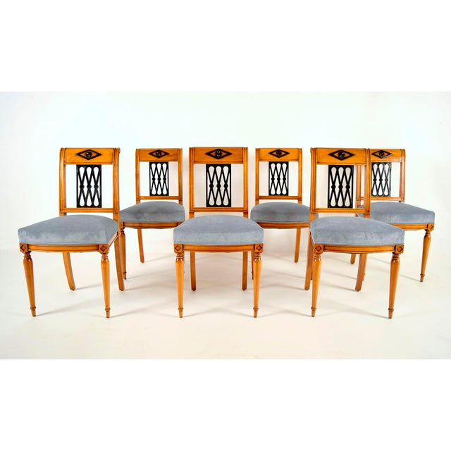 Empire-Style Dining Chairs - Set of 6 - Image 2 of 10