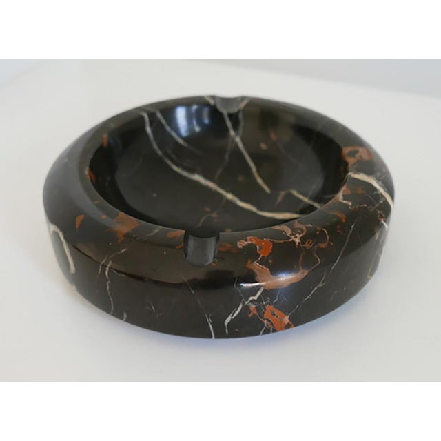 1970s Modern Black and Brown Marble Ashtray/Catchall For Sale - Image 5 of 5