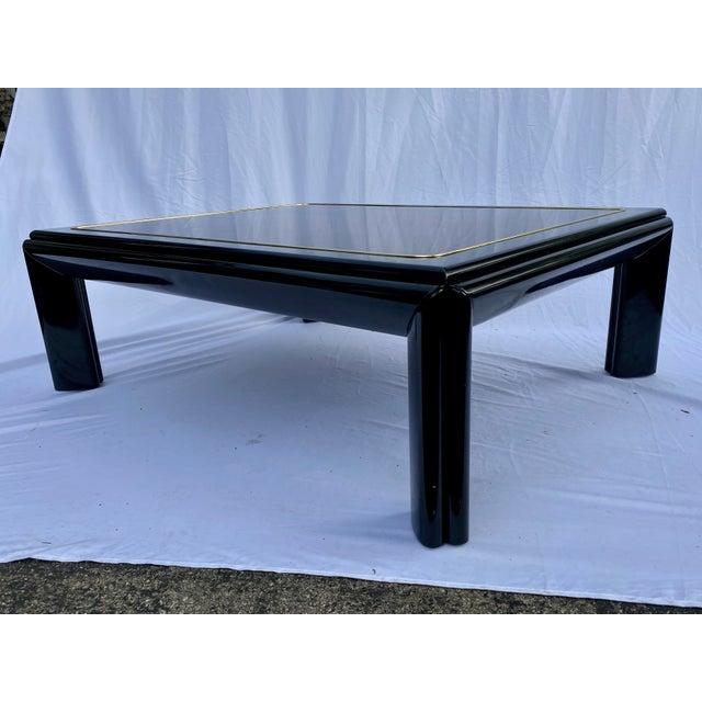 Art Deco 1970s Henredon Scene III Burl Coffee Table For Sale - Image 3 of 13