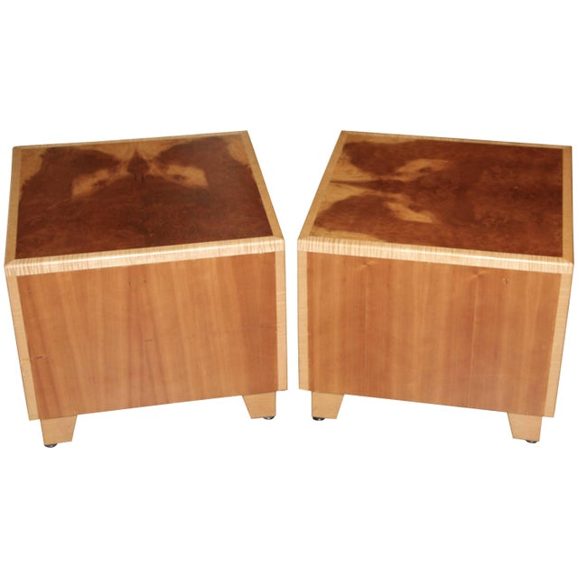 """1990s Vintage Joseph Kelly Custom Made """"Rorshach Bunching"""" Tables- A Pair For Sale - Image 11 of 11"""