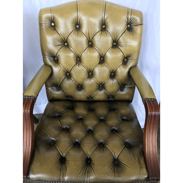 1940s Chesterfield Guest Chairs - a Pair For Sale - Image 5 of 11