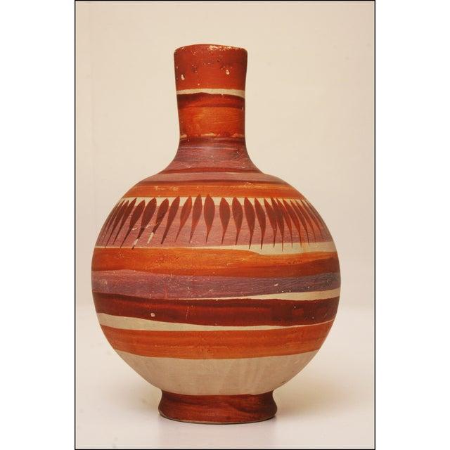 Vintage Native American Brown Art Pottery Vase - Image 8 of 11