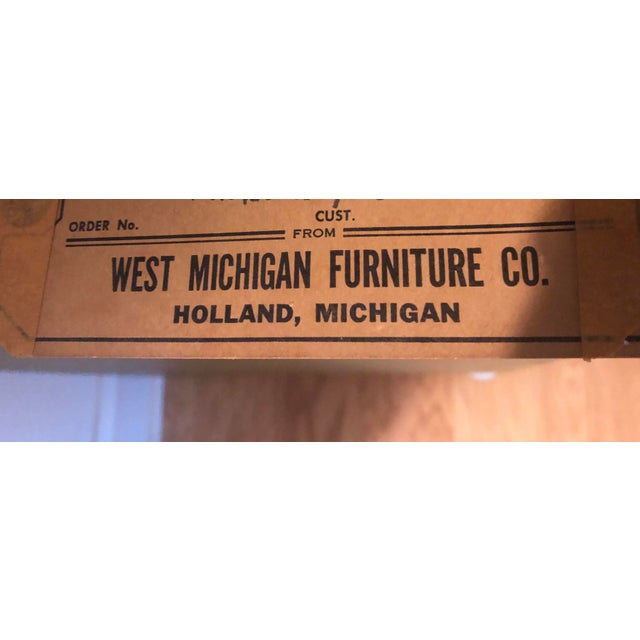 West Michigan Furniture Co. 1970's Vintage Campaign Credenza For Sale - Image 4 of 8