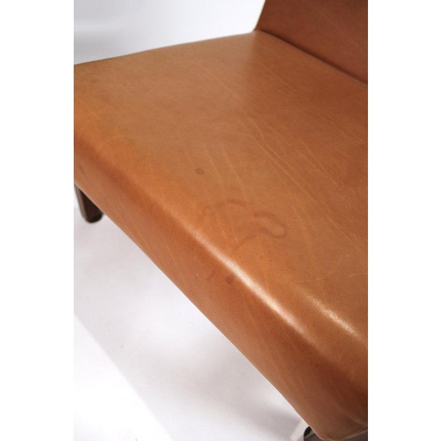 Wood Joaquim Tenreiro Style Peroba Lounge Chairs in Leather for Knoll & Forma Brazil - A Pair For Sale - Image 7 of 10