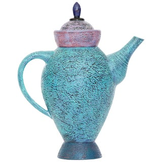 Decorative Ceramic Teapot by Studio Artist Michel Conroy Number 2 of 14 For Sale