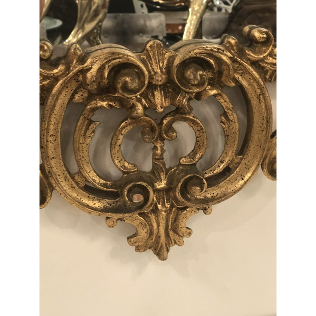 1960s Vintage Chinoiserie Italian Labarge Carved Wood Pagoda Bells Wall Mirror For Sale - Image 5 of 13