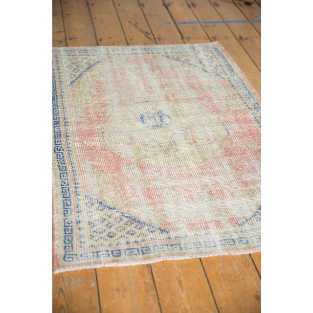 """1950s Vintage Distressed Oushak Square Rug - 2'10"""" X 4' For Sale - Image 5 of 9"""