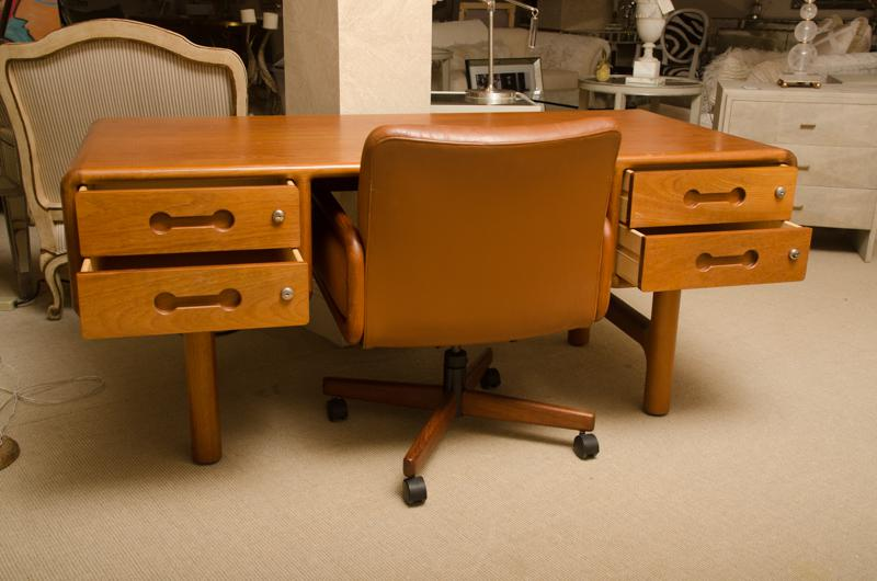 Superior Fabulous Danish Teak Desk With Matching Desk Chair Decaso