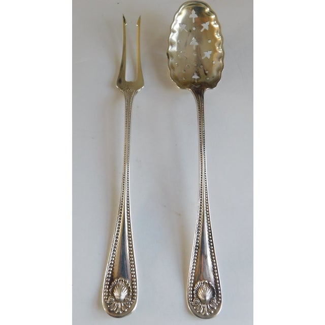Sterling Antique Whiting Openwork Spoon and Two Prong Fork - a Pair For Sale - Image 13 of 13