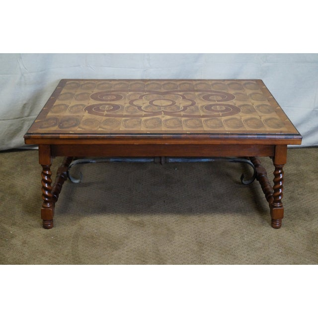 Quality English Oyster Wood Large Coffee Table - Image 2 of 9