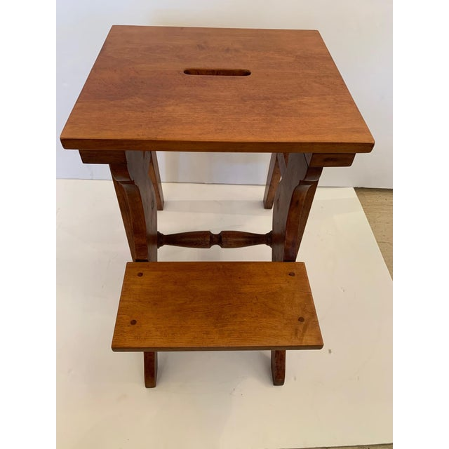 Traditional Antique Birdseye Maple Library Steps For Sale - Image 3 of 13