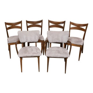 Set of Six Heywood Wakefield Bow Tie Chairs