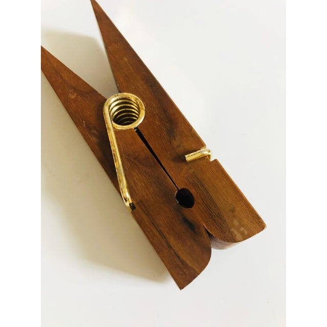 Boho Chic Vintage Wood Note Clip For Sale - Image 3 of 6