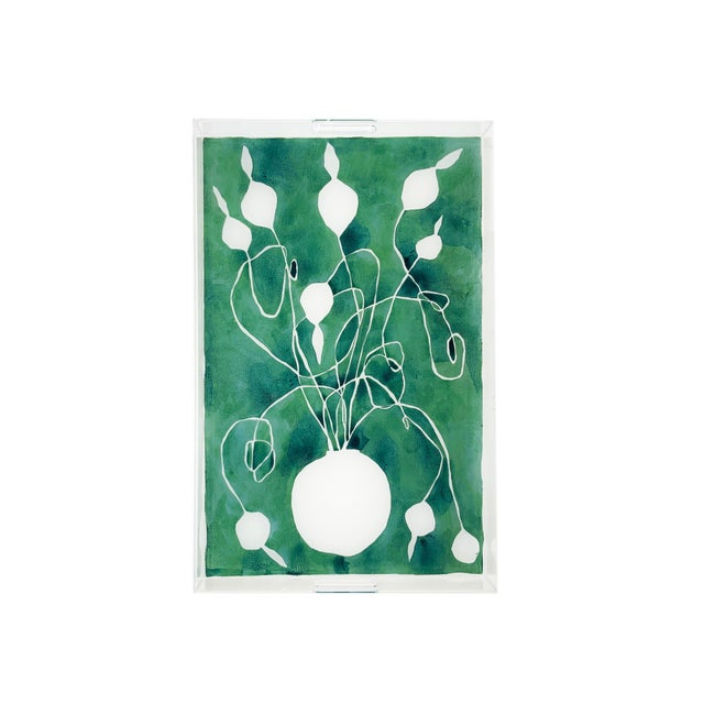 Kate Roebuck Celadon Orchid by Kate Roebuck, Tray For Sale - Image 4 of 4