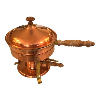 Copper Flambe Burner Pan For Sale