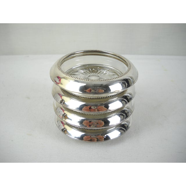 Whiting & Co. Sterling Silver Coasters - Set of 4 For Sale - Image 5 of 9