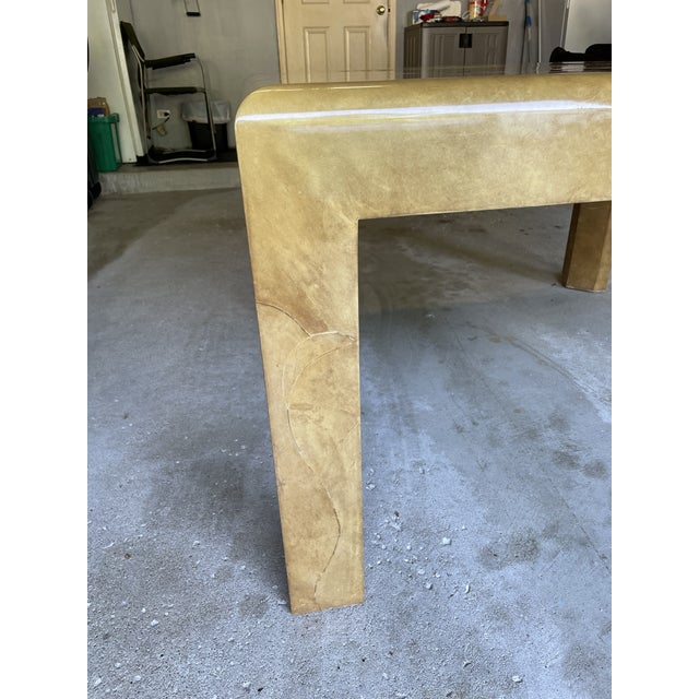 1980s 1980s Goat Skin Dining Table For Sale - Image 5 of 9