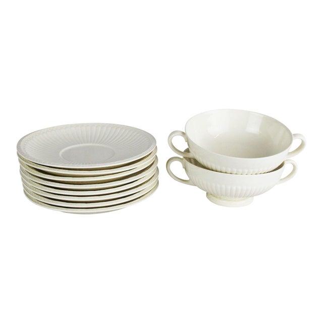 Ceramic Wedgwood Windsor Soup Bowls and Plates - Set of 10 For Sale - Image 7 of 7