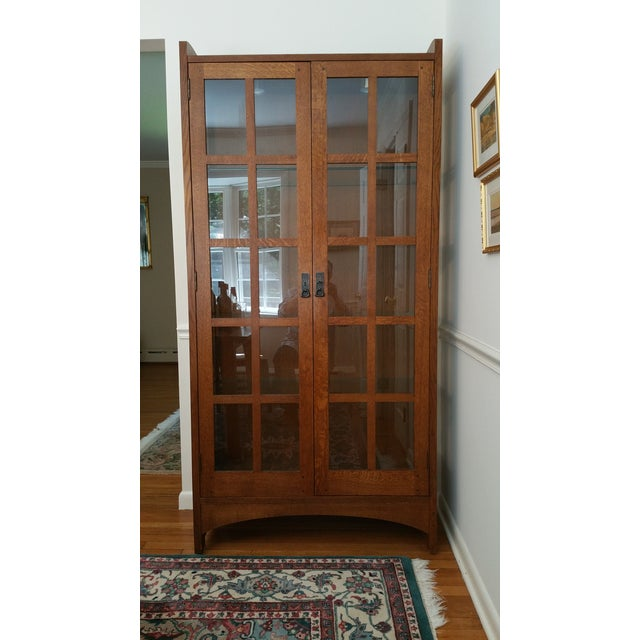 Stickley Mission Collection Solid Oak Display Cabinet
