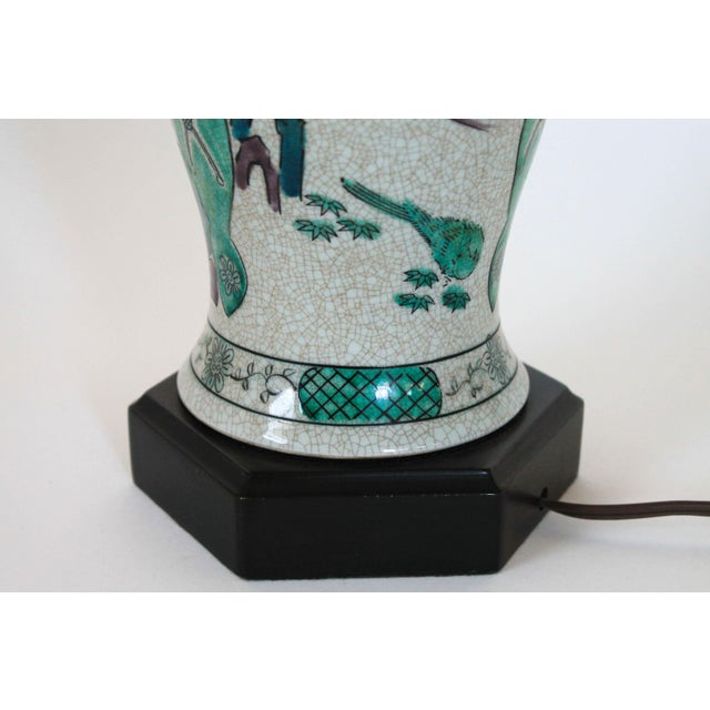 Mid 20th Century Hand Painted Table Lamp by Frederick Cooper For Sale - Image 5 of 11